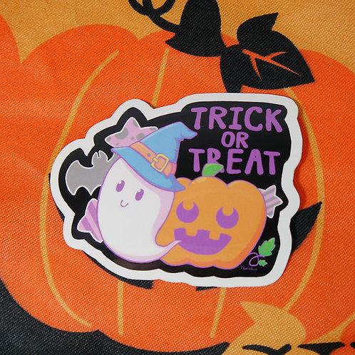 Halloween Trick or Treat Vinyl Sticker