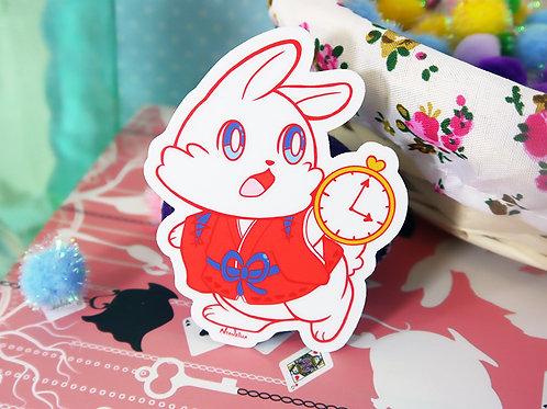 Vinyl Sticker: White Rabbit