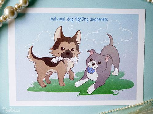 National Dog Fighting Awareness Print