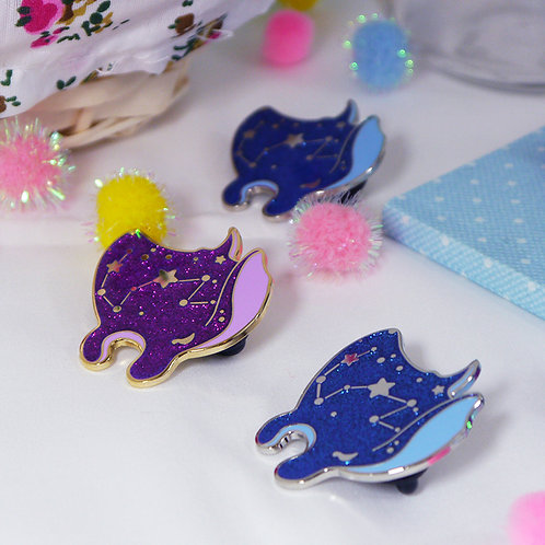 Nami the Manta Ray Pin