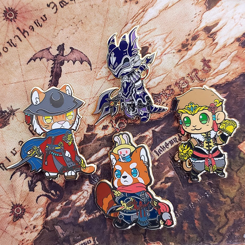 Warriors of Cute: Physical DPS Class Enamel Pins