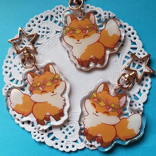 Acrylic Keychain: Spring Fox