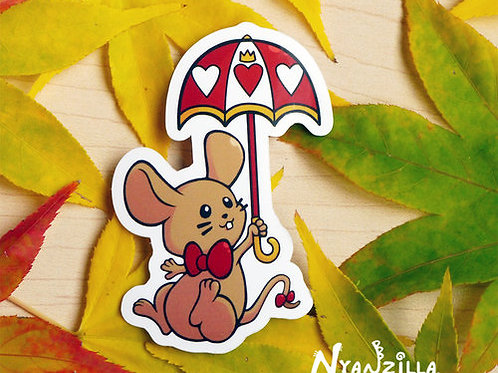 Alice in Wonderland Dormouse Vinyl Sticker