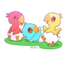 Chocobo Hatchlings