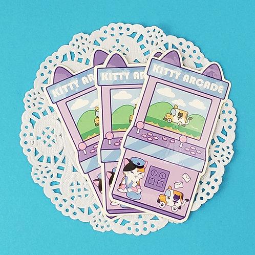 Vinyl Sticker: Kitty Arcade Machine