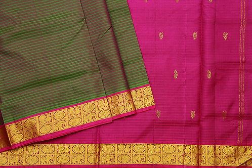Tharakaram nine and a half yards silk saree PSTK040110