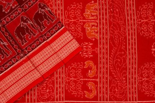 Ira Creations Sambalpuri Cotton Saree PSIC12IRA18