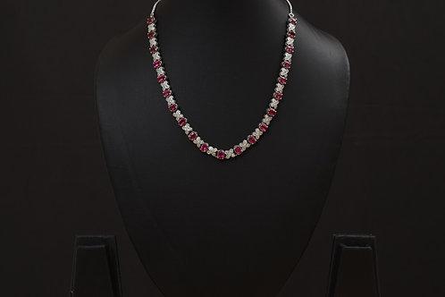 Lasya Necklace with  Zircon stones PSLA180042