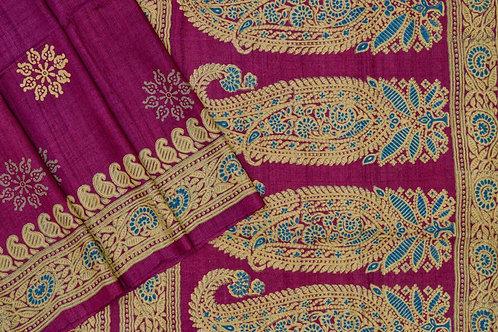 Weavers studio tussar silk saree PSWS140001