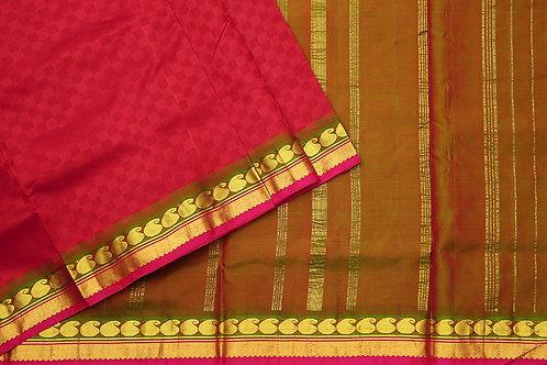 Tharakaram nine and a half yards silk saree PSTK040114