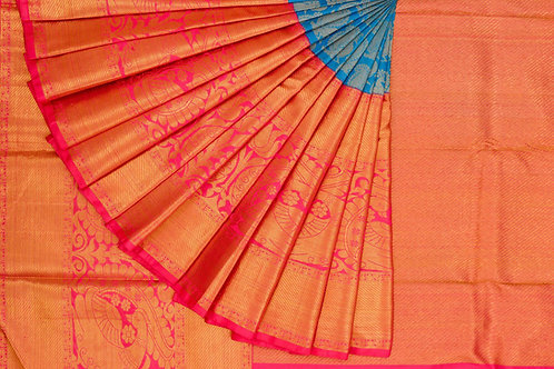 Bridal Kanjivaram silk saree SS1243