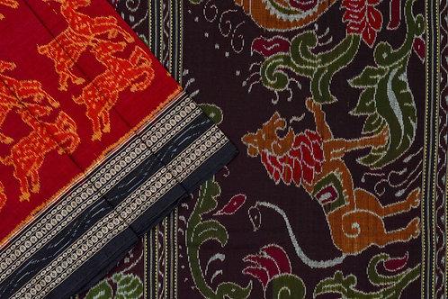 Ira Creations Sambalpuri Cotton Saree PSIC12IRA30