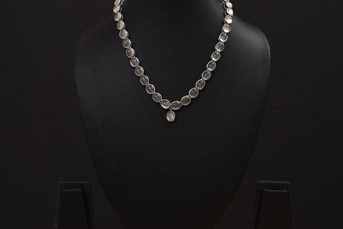 Lasya Neckpeice set with Moon stones PSLA180043