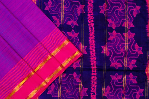 Mura Shibori south silk saree PSMR170012