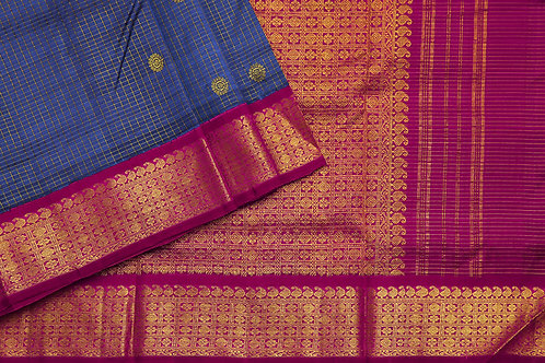 Tharakaram nine and a half yards silk saree PSTK040148