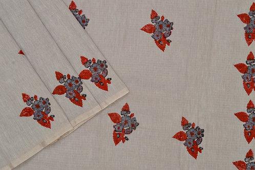 Coorv designs linen saree PSCO110018