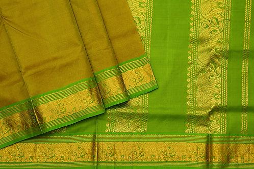 Tharakaram nine and a half yards silk saree PSTK040115