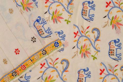 Coorv designs silk georgette saree PSCO110076