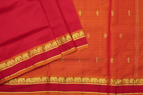 Tharakaram nine and a half yards silk saree PSTK040116