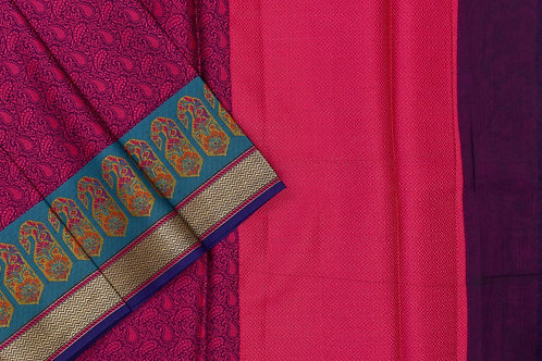 Blended cotton saree SS2145