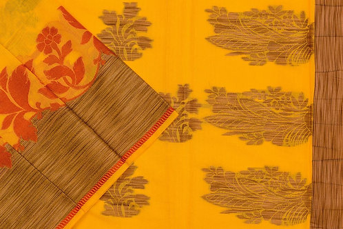 Blended cotton saree SS2070
