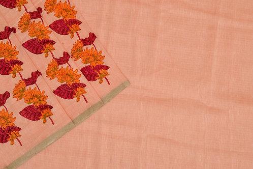Coorv designs linen saree PSCO110007