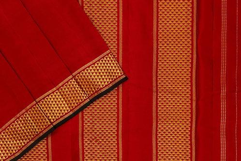 Nine yards silk saree SS2006