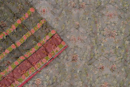 Amritha printed Organza silk saree PSAM160017