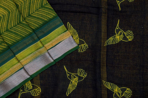 Mura Shibori Tussar cotton saree PSMR170034