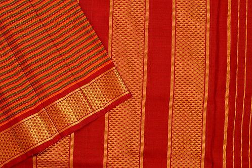 Nine yards silk saree SS1846