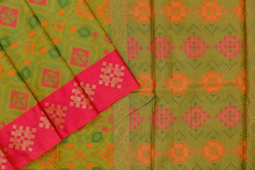Blended cotton saree SS2160