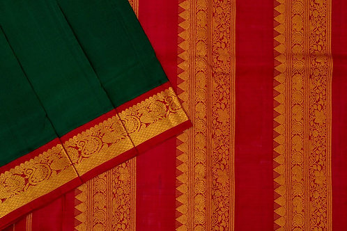 Nine yards silk saree SS1841