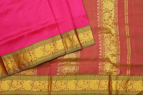 Tharakaram nine and a half yards silk saree PSTK040121