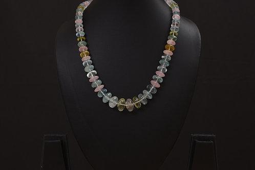 Lasya Necklace with aquamarine stones LA0033