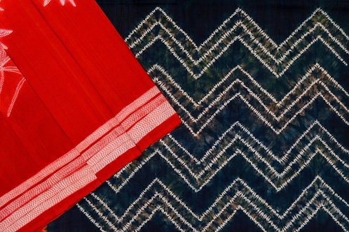 Mura Shibori Dupion silk saree PSMR170021