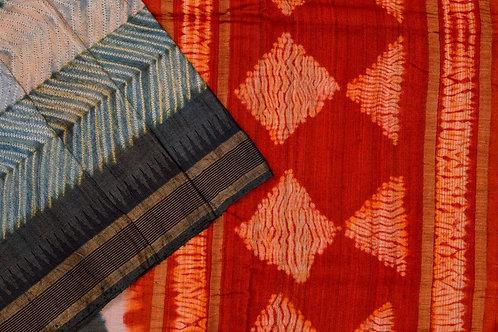Mura Shibori tussar silk saree PSMR170008