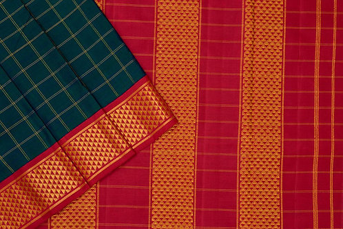 Nine yards silk saree SS1819
