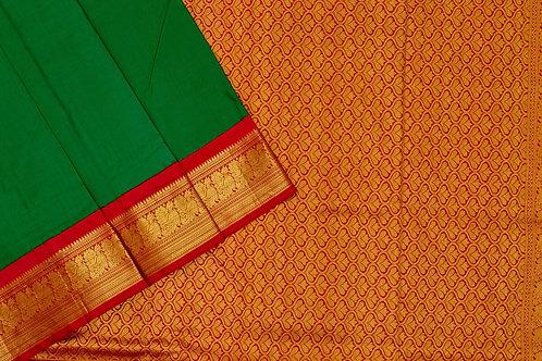 Nine yards silk saree SS1854