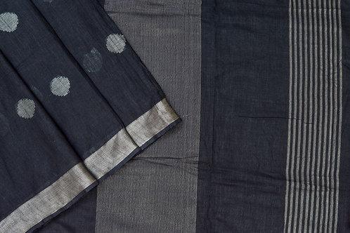 Coorv designs linen saree PSCO110062