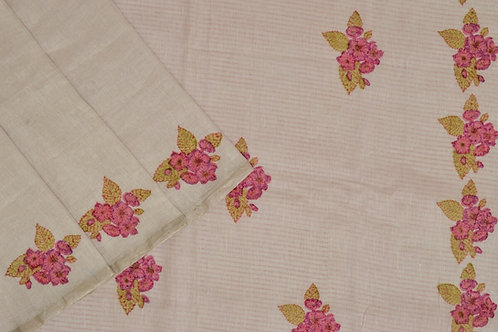 Coorv designs linen saree PSCO110004