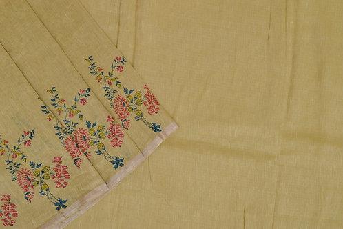 Coorv designs linen saree PSCO110001