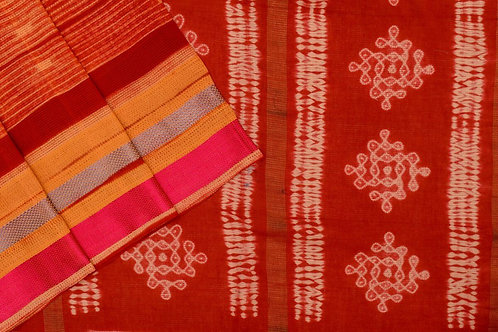 Mura Shibori Tussar cotton saree PSMR170033