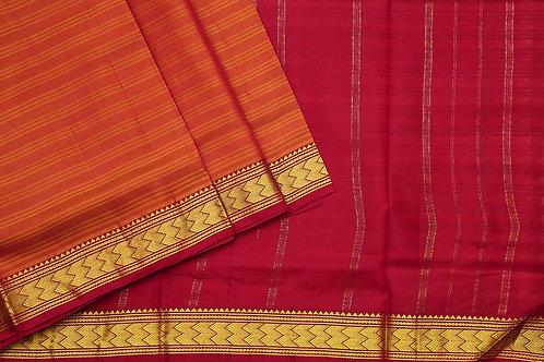 Tharakaram nine and a half yards silk saree PSTK040118