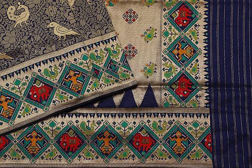 Tharakaram Banaras Blended silk saree PSTK040104