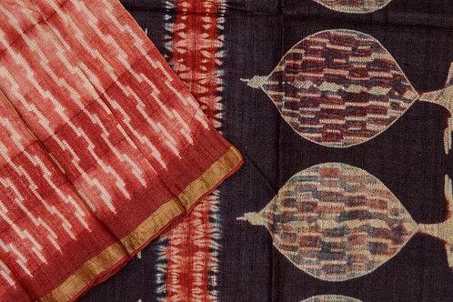 Mura Shibori tussar silk saree PSMR170015