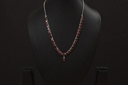 Lasya Neckpeice set with Garnet stones LA0044