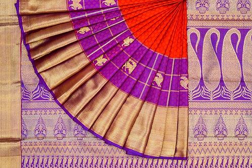 Kanjivaram silk saree SS1586