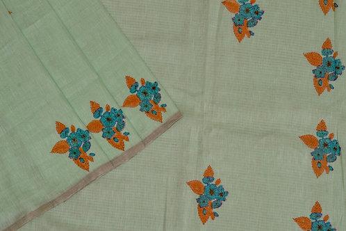 Coorv designs linen saree PSCO110002