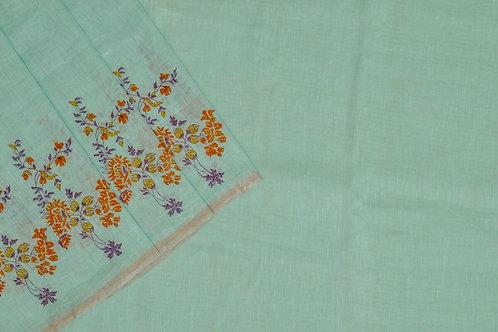 Coorv designs linen saree PSCO110005