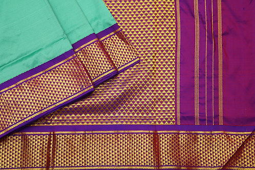 Tharakaram nine and a half yards silk saree PSTK040152
